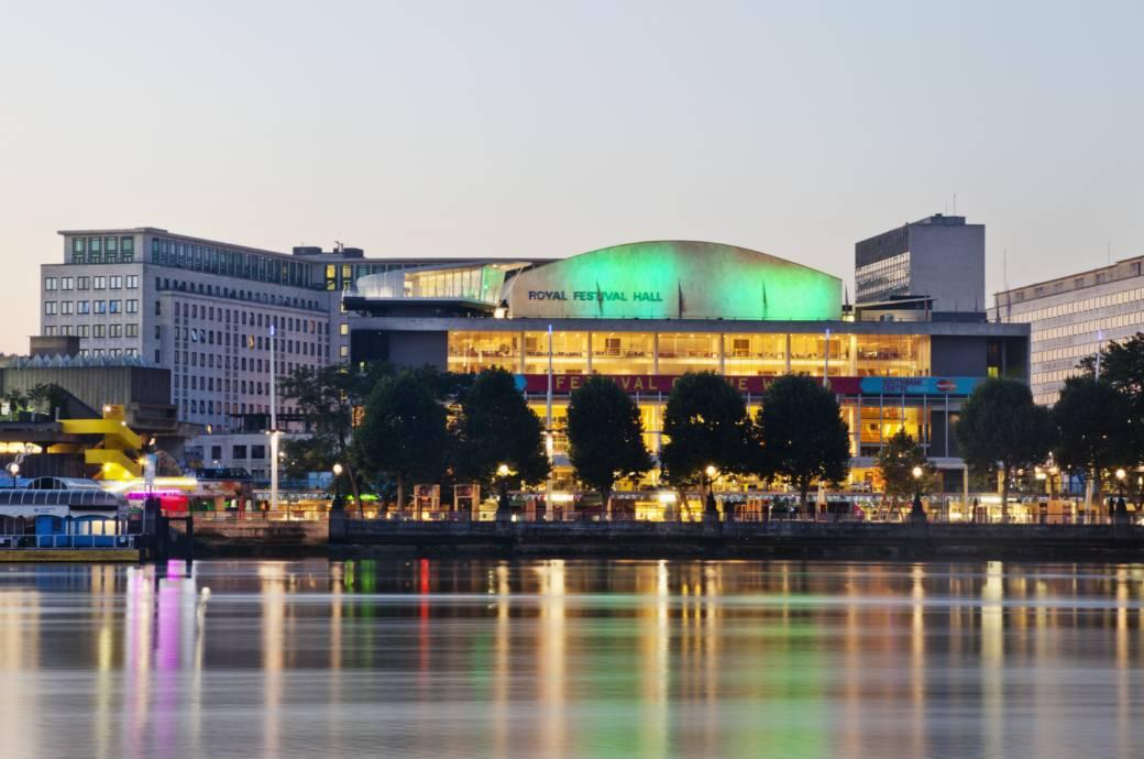 England,London,Southwark,South Bank,Southbank Centre,River Thames and Royal Festival Hall
