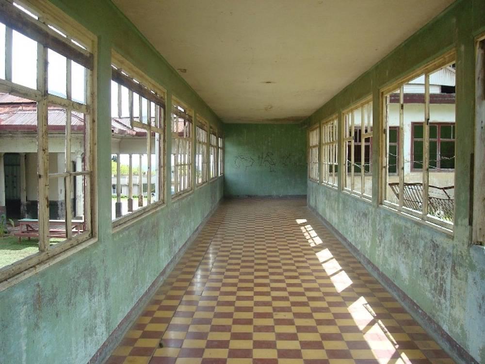 Ein Flur in dem verlassenen Sanatorio Durán.