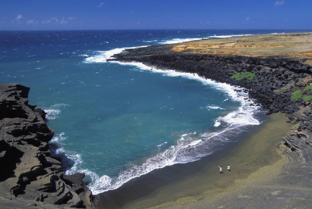 Papakolea, Hawaii, grüner Sand