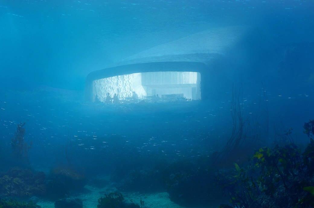 Unterwasser Restaurant Norwegen