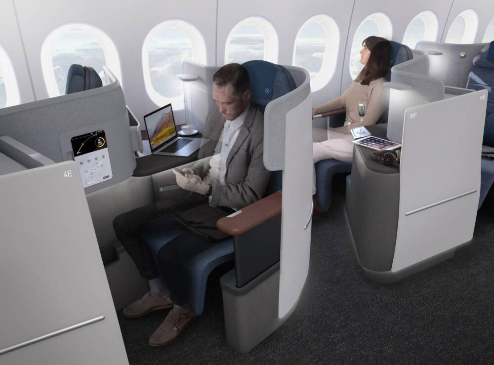 lufthansa die neue business class in der boeing 777 9 travelbook. Black Bedroom Furniture Sets. Home Design Ideas