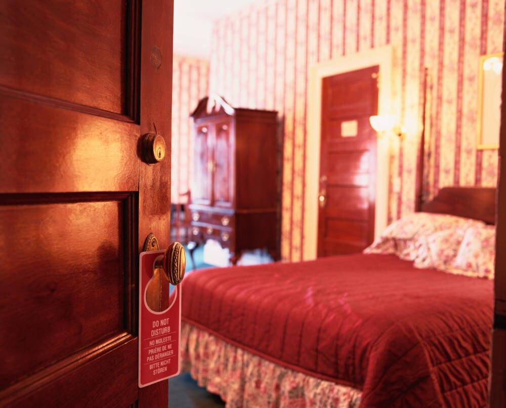 Hotelzimmer, Schild, Bitte nicht stören