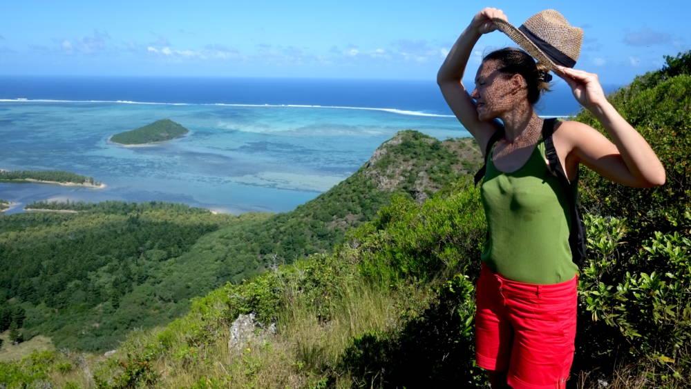 Für diese atemraubende Aussicht hat sich der schweißtreibende Aufstieg auf den 556 Meter hohen Le Morne Brabant im Südwesten von Mauritius mehr als gelohnt!