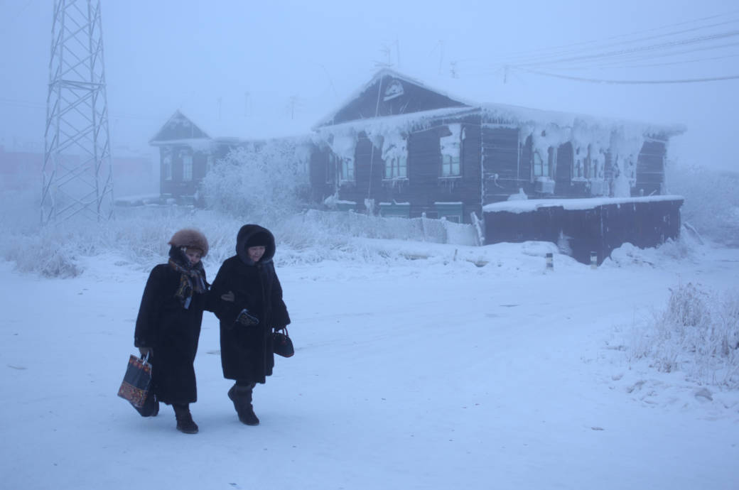 Oimjakon in Russland, Sibirien