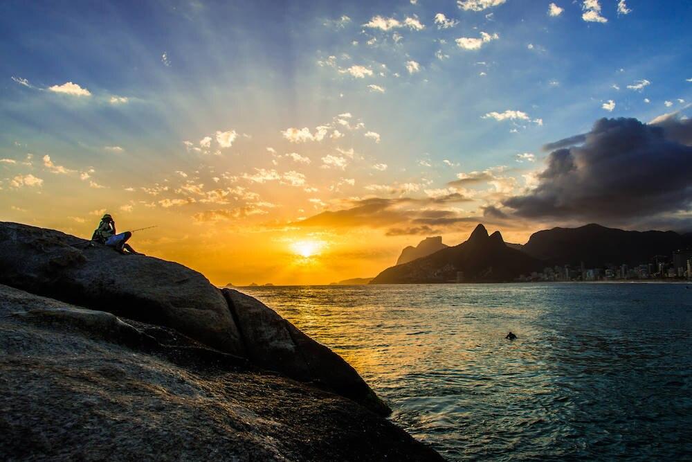 Der Sonnenuntergang am Arpoador