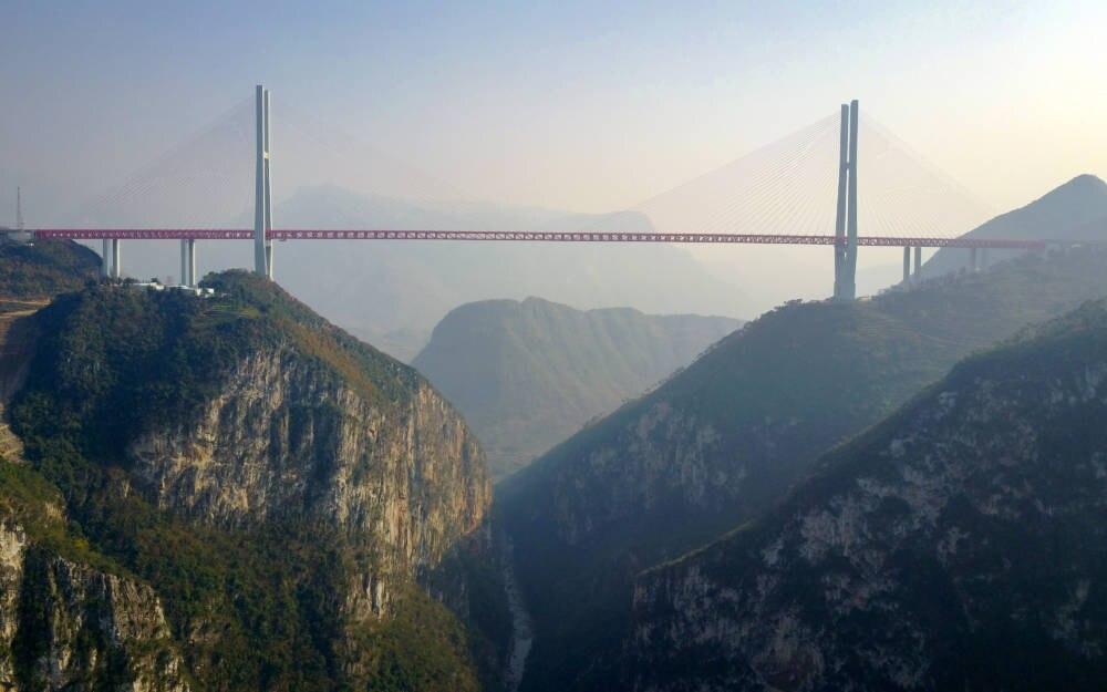 Beipanjiang Bridge Brücken der Superlative