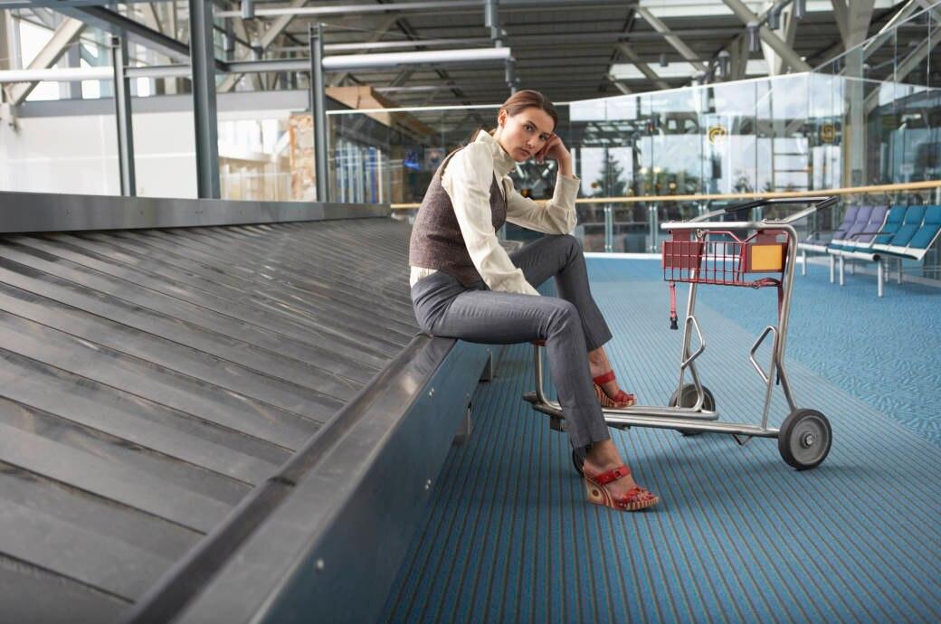 Gepäckband, Flughafen, verloren