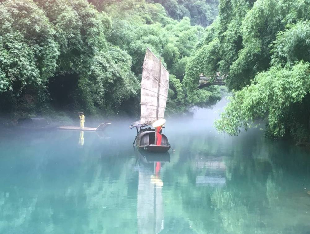 Dieser Blick aus einem Wasserdorf, diente bei Iphone einmal als Sperrbild