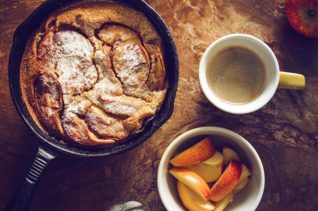 Rezept Dutch Baby, Apfel-Pfannkuchen