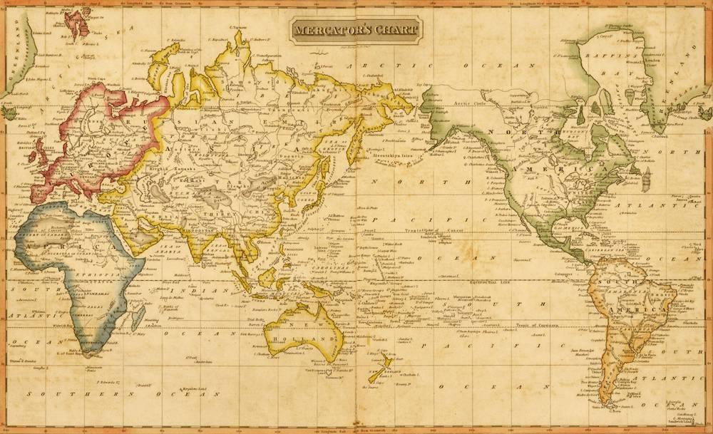 Durchbruch für die Karthographie und die Navigation: Die Mercatorkarte