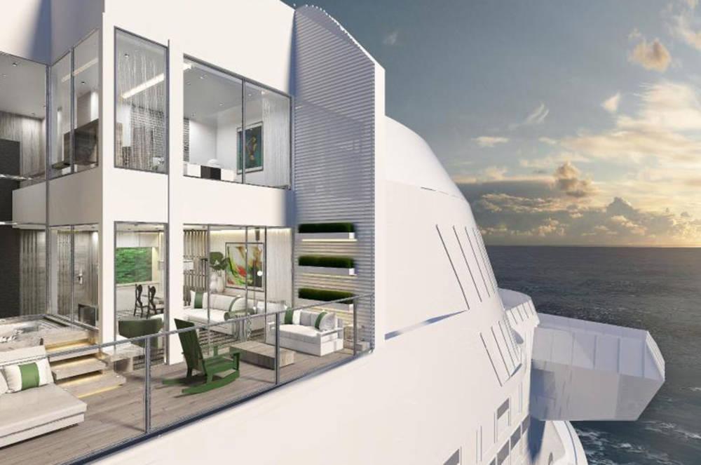 """Über zwei Decks führen die neuen """"Edge-Villas"""" auf den Kreuzfahrtschiffen der """"Celebrity Edge""""-Klasse"""