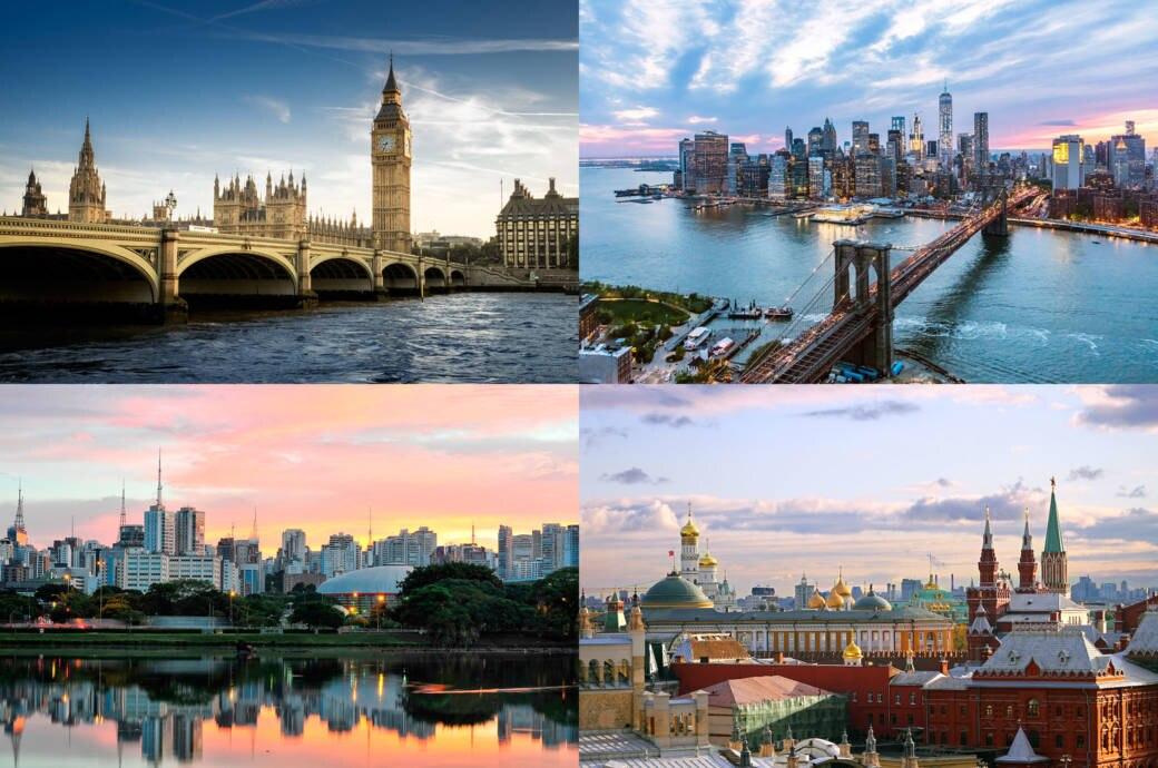 New York, London, Moskau und Sao Paulo führen das Ranking der meistfotografierten Städte auf Instagram an.