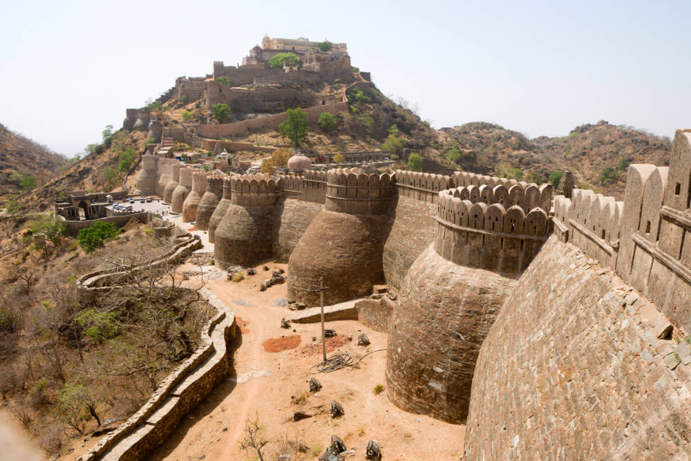 Die Kumbhalgarh-Festung in Indien
