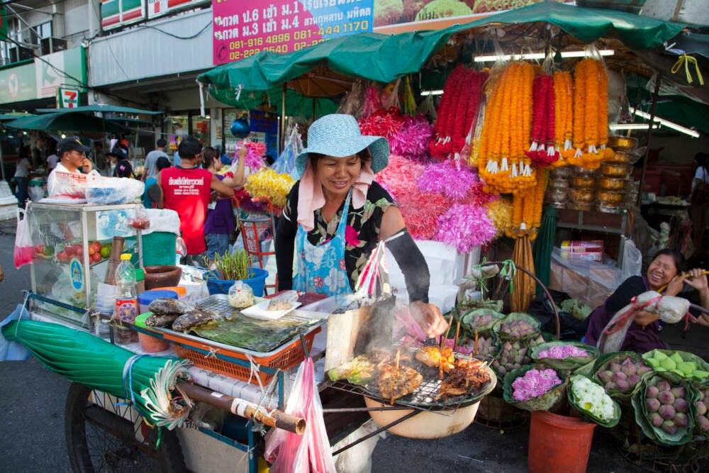 Ein typischer Street-Food-Stand in der thailändischen Hauptstadt