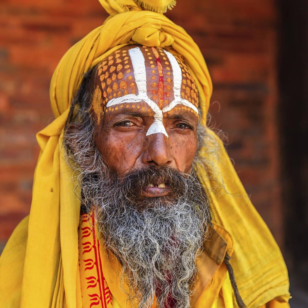 Ein Sadhu - diese Gruppe wird von den Hindus als heilig betrachtet