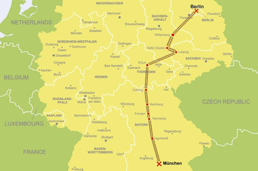 ICE-Strecke Berlin-München