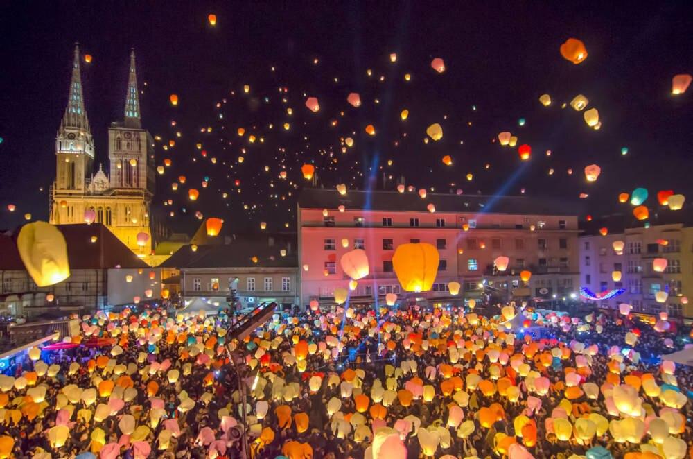 Zagreb Weihnachtsmarkt