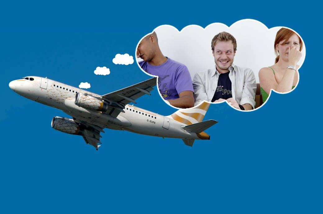 Warum Sie im Flugzeug unbedingt pupsen sollten