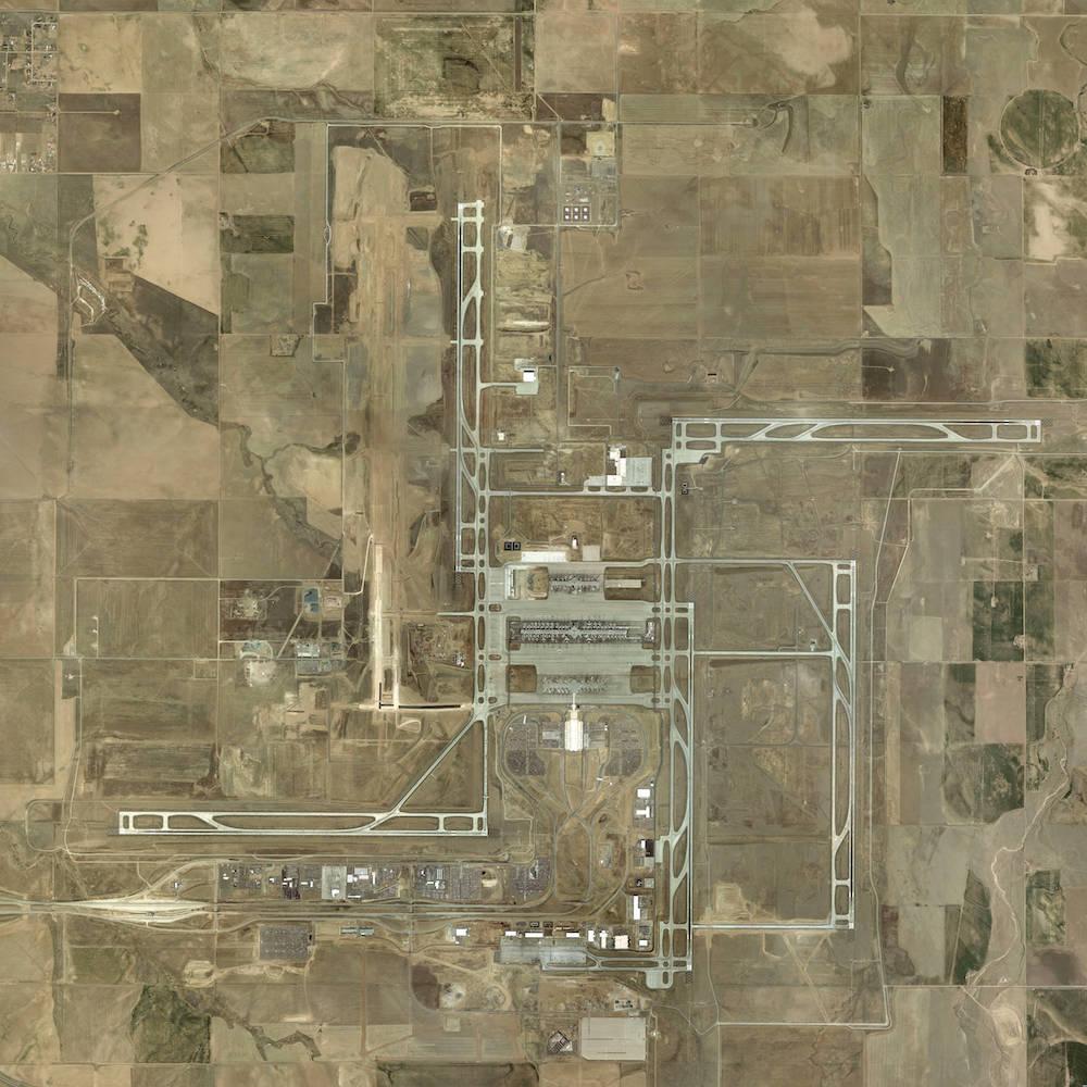 Denver Airport aus der Luft