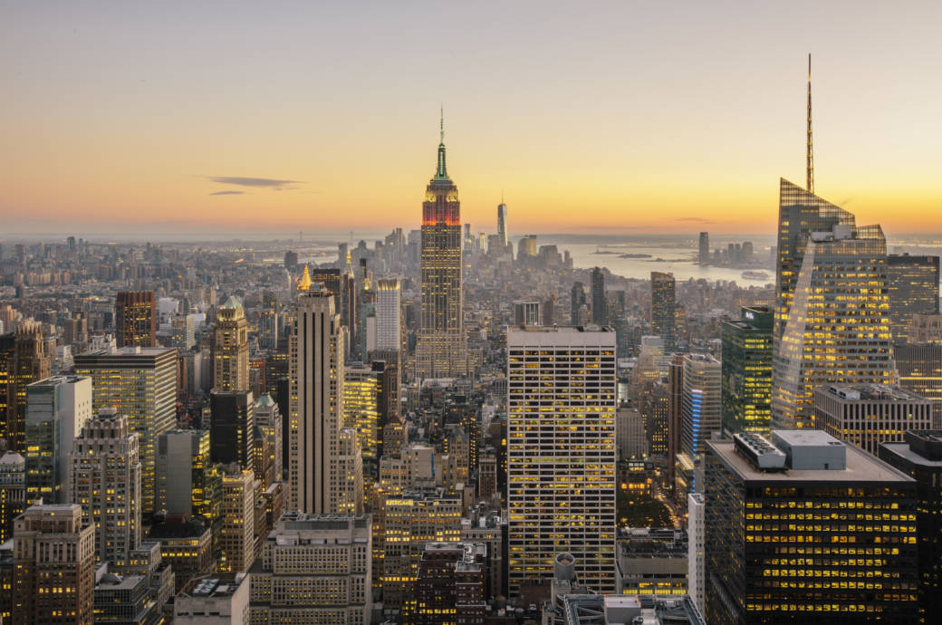 New York City, Empire State Building, Skyline, Sonnenuntergang