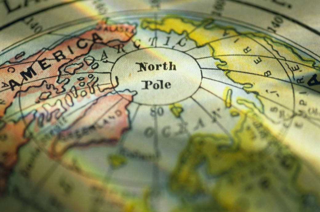 Nordpol, Koordinaten