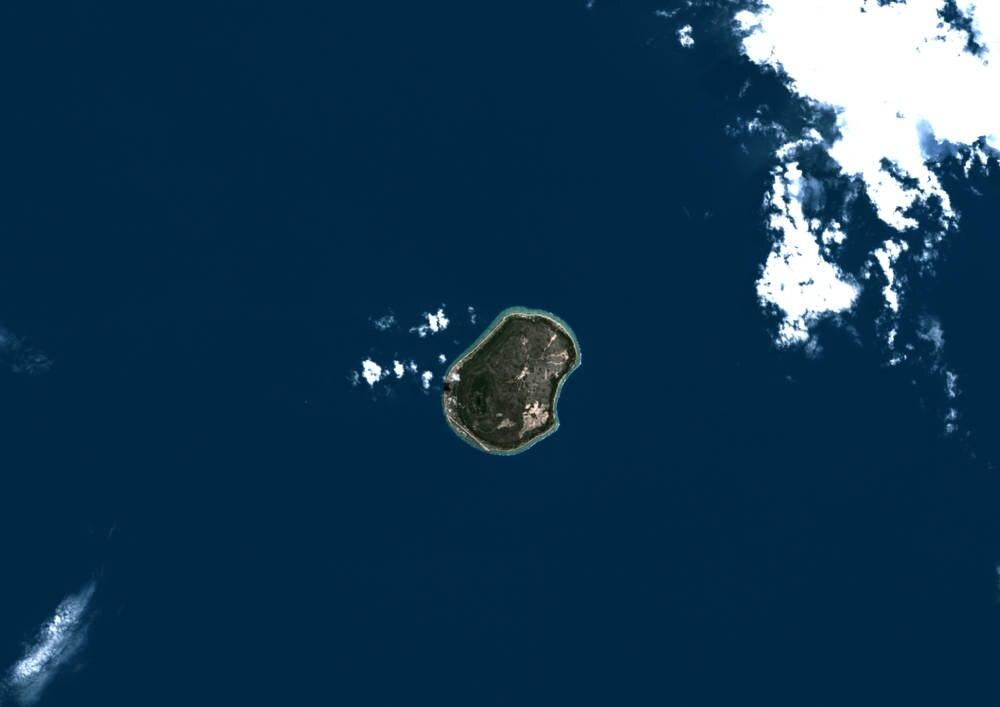 Nauru Satellitenansicht