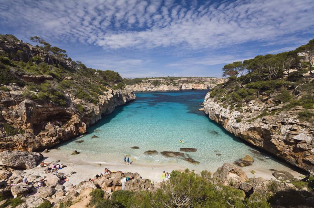 Strand auf Mallorca, Spanien