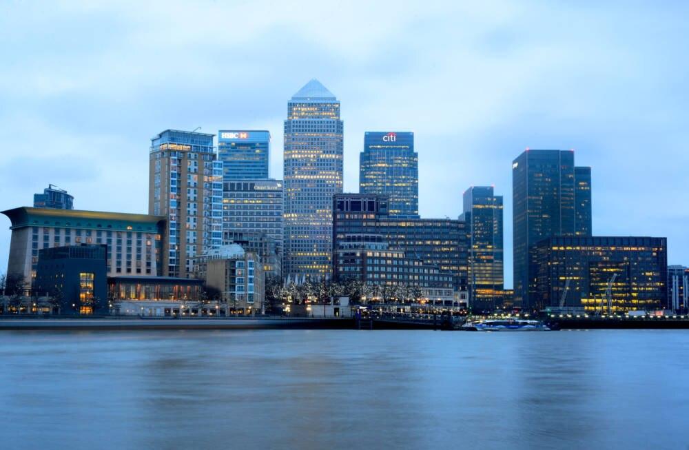 Canary Wharf, London, England, Großbritannien