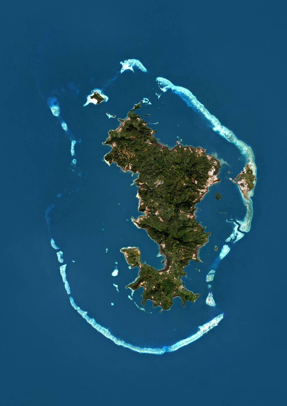 Mayotte aus der Luft