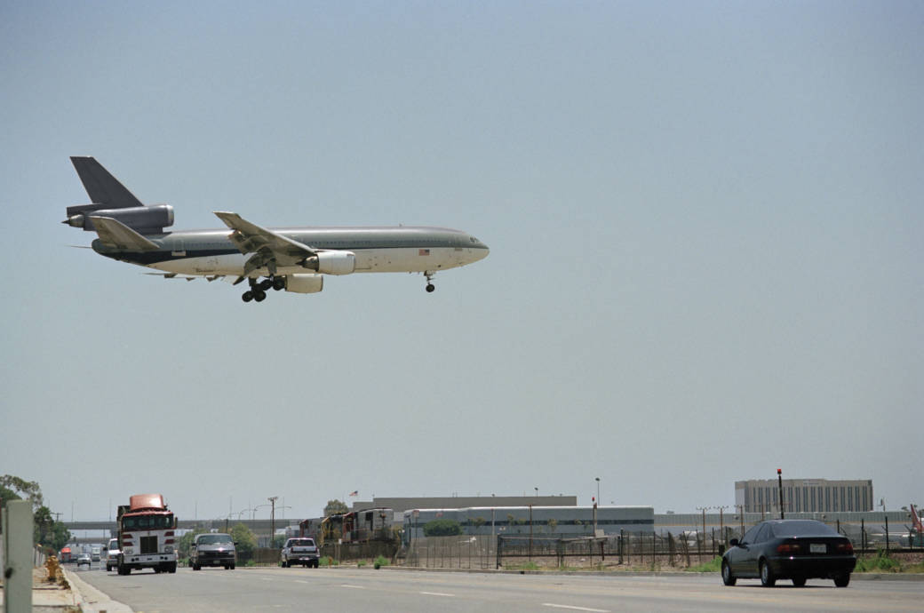 Flugzeug, Landeanflug