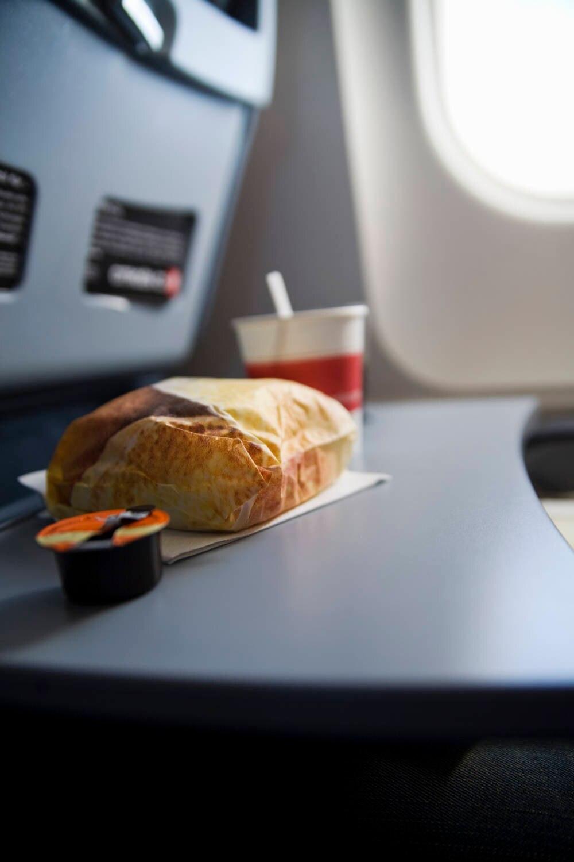 Flugzeug-Snack
