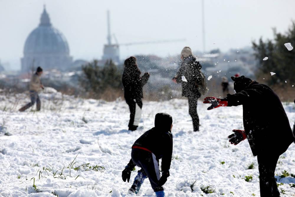 Schnee in Rom