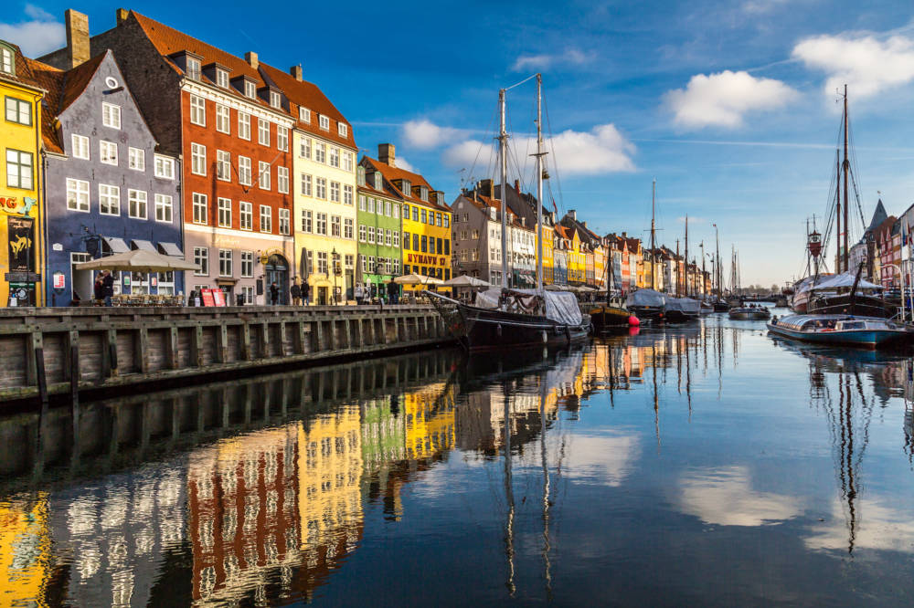 Hafen Hyhavn in Kopenhagen, Dänemark