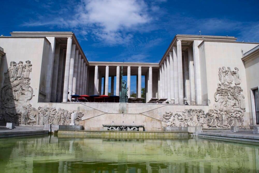 Blick auf das Palais de Tokyo in Paris, Frankreich