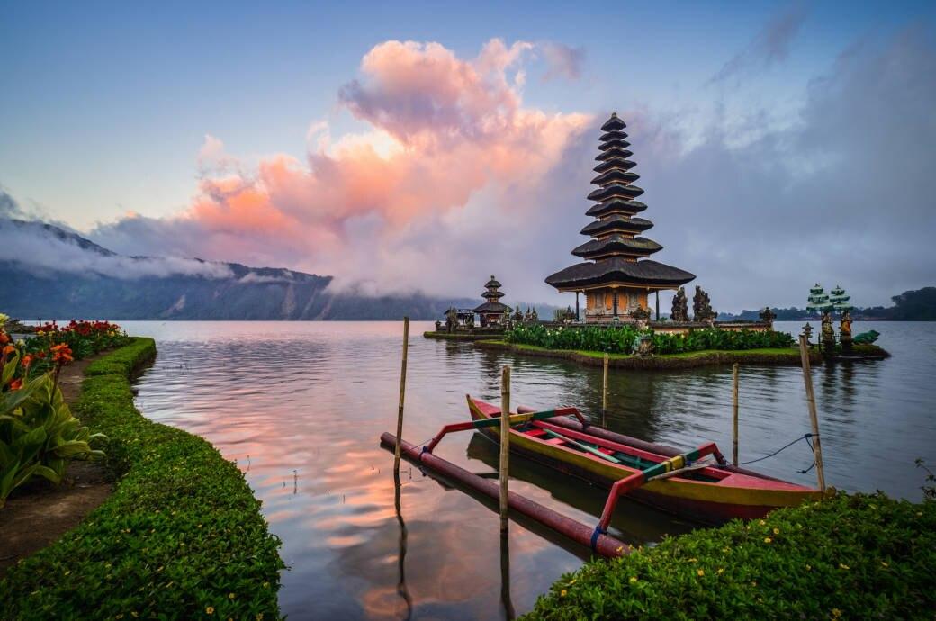 Pura Ulun Danu Bratan in Bali, Indonesien