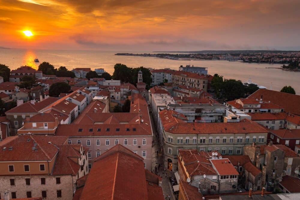 Blick von der Kathedrale auf Zadar