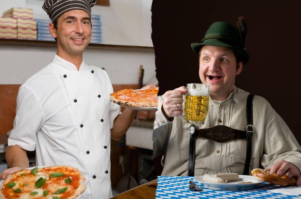 Ein Italiener und ein Deutscher