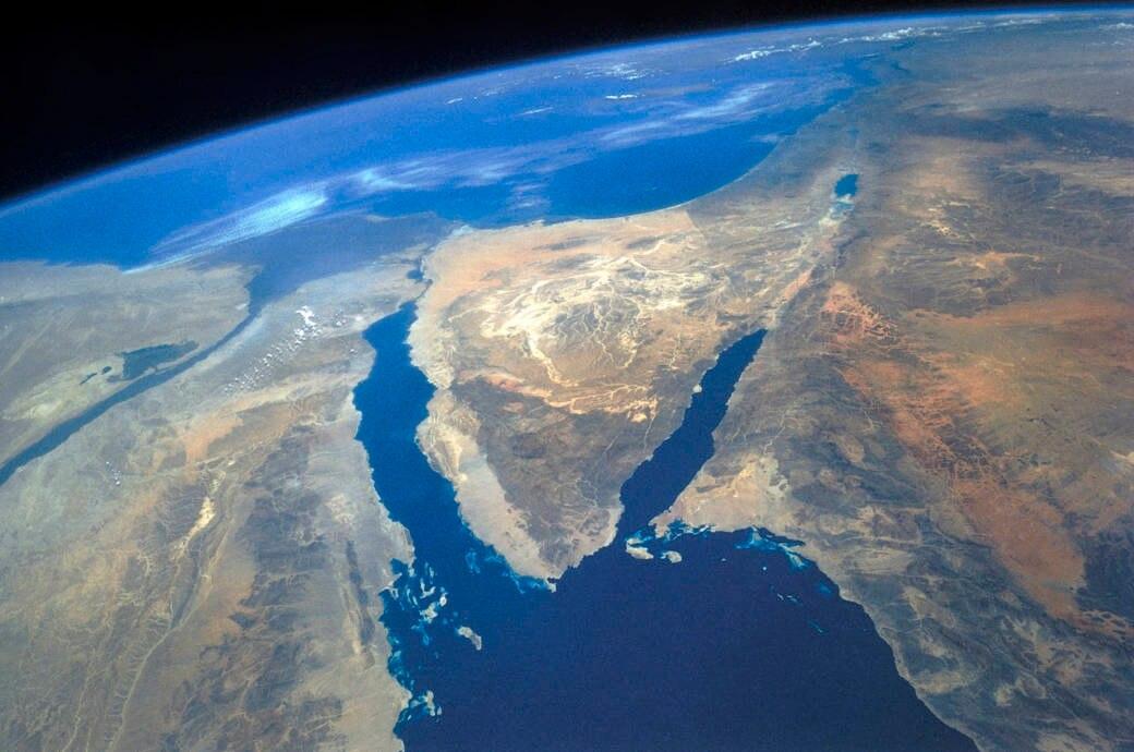 Sinai-Halbinsel aus der Luft