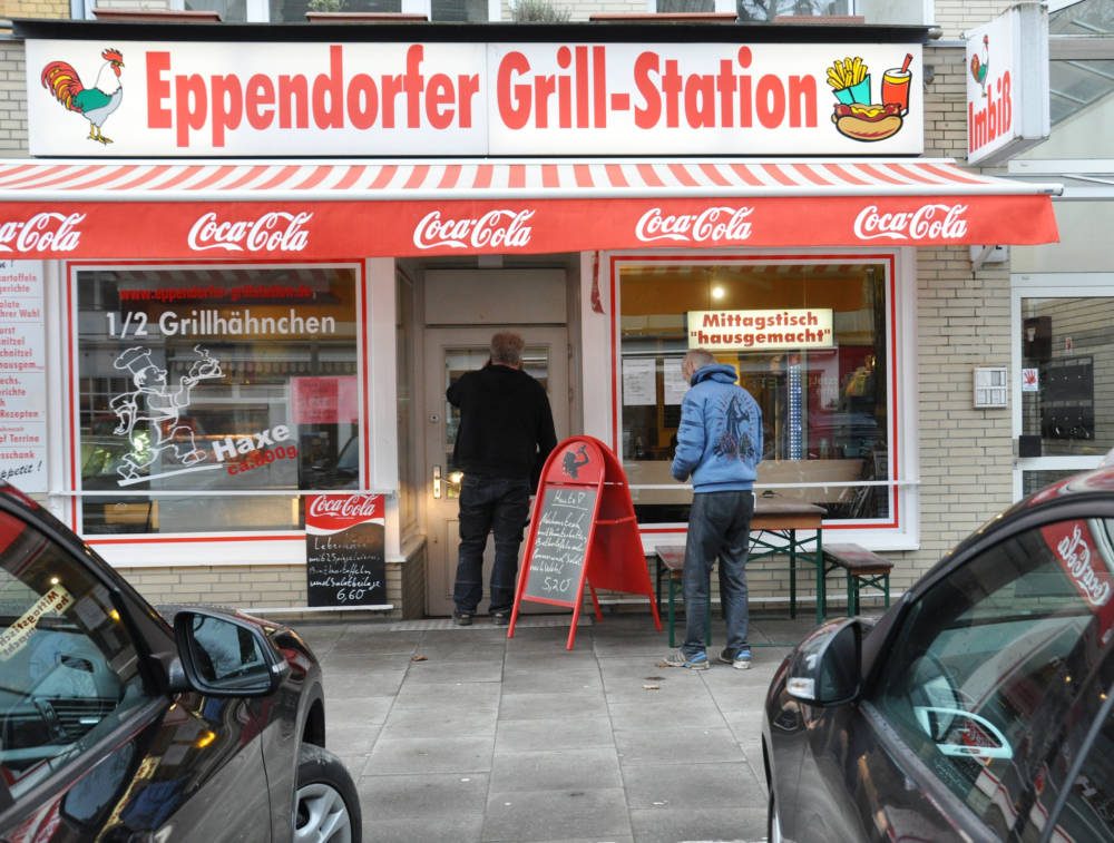 Eppendorfer Grill-Station in Hamburg