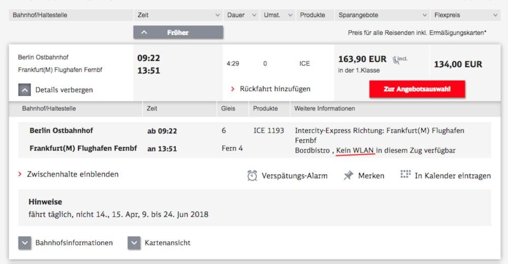 DB.de, Screenshot