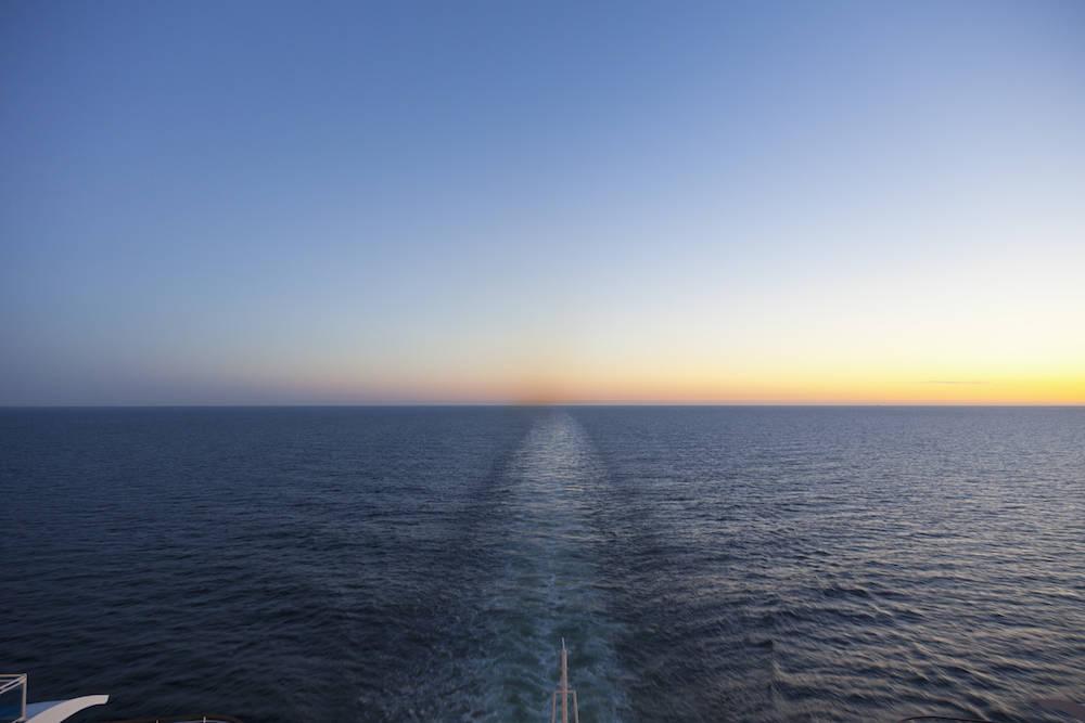 Horizont vom Schiff aus gesehen