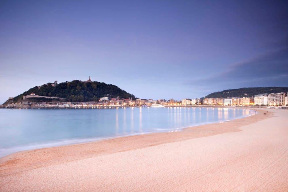 La Concha, der Stadtstrand in San Sebastián