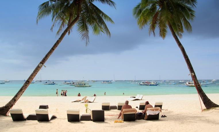 White Beach auf Boracay, Philippinen