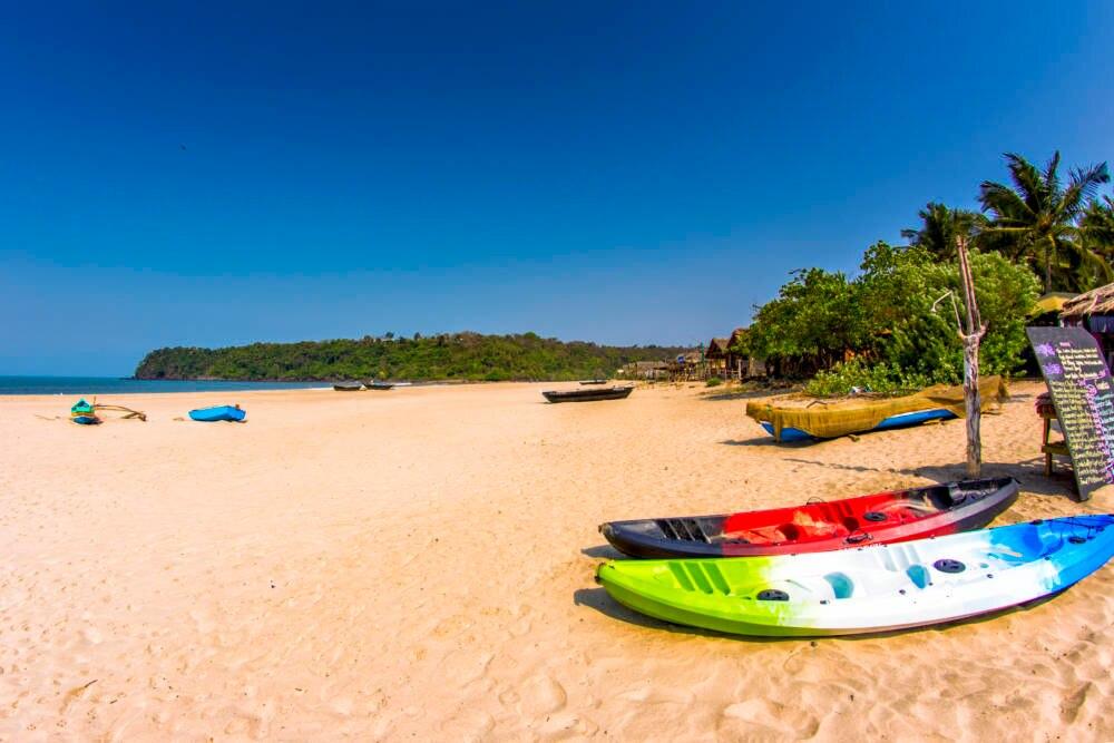 Der Agonda Beach in Goa, Indien