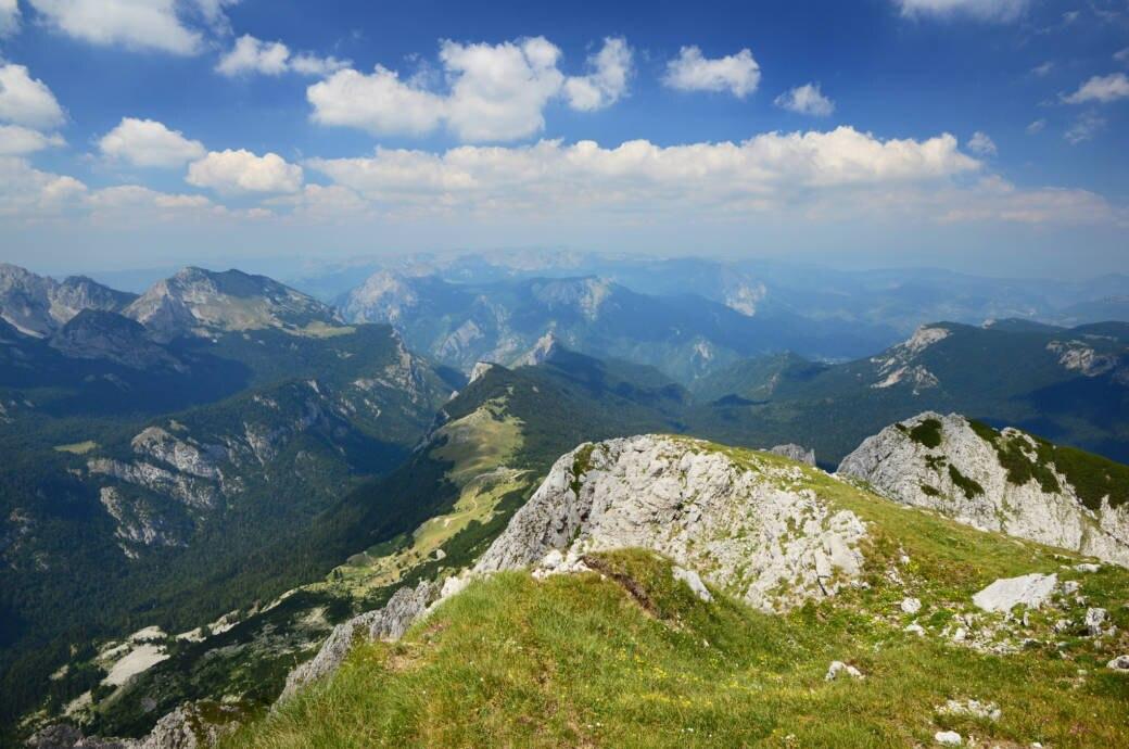 Sutjeska-Nationalpark mit dem Berg Maglic
