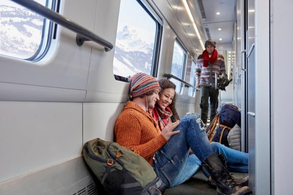 Interrail Zug Bahnhof