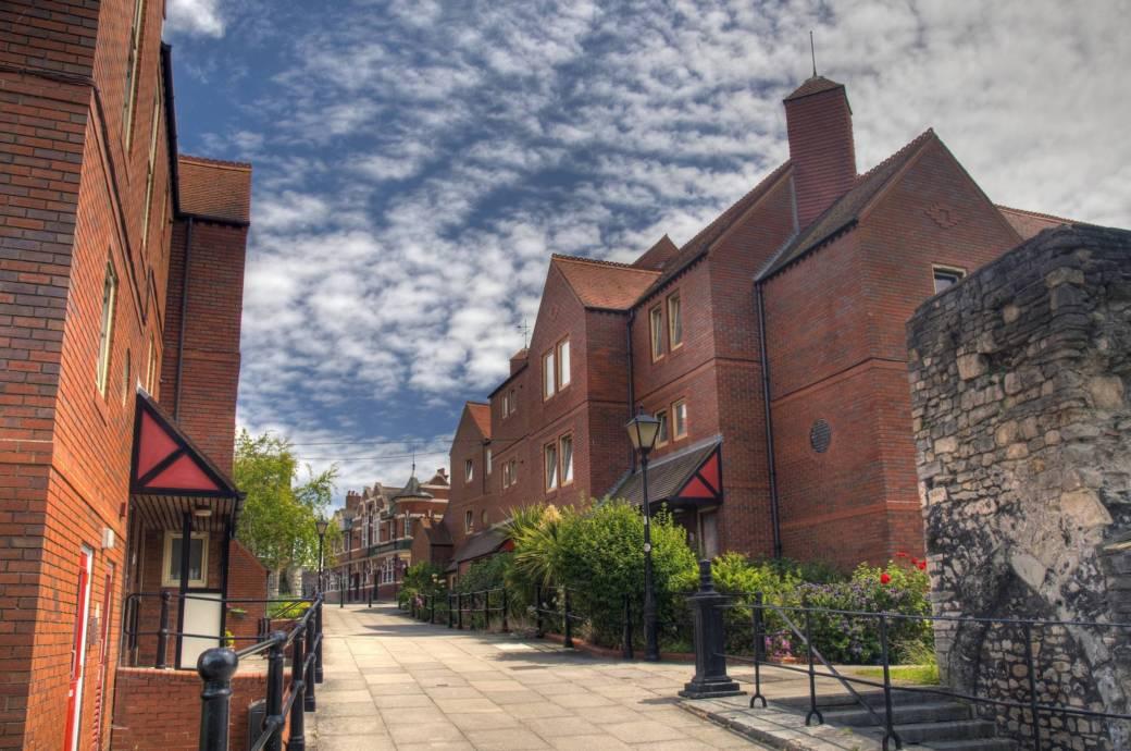 Die Altstadt von Southampton