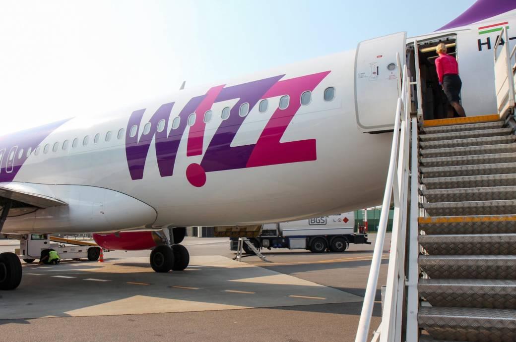 Wizz-Air-Flugzeug am Flughafen Vilnius