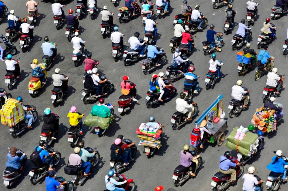 Ho Chi Minh city, Moped