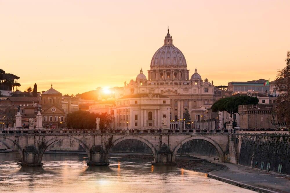 Der Vatikan bei Sonnenuntergang
